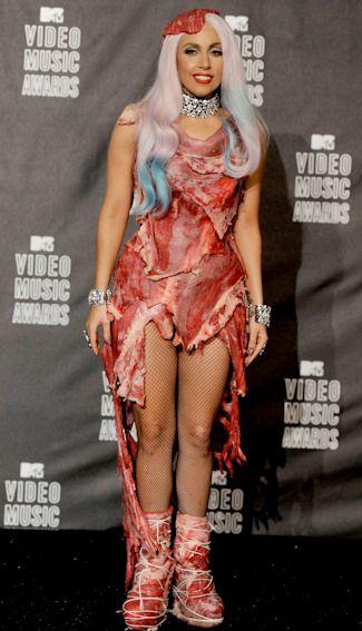 Vestido de Carne de Lady Gaga